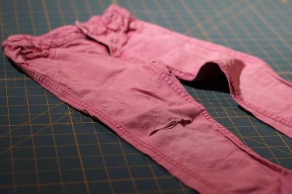 Jeans flicken Loch