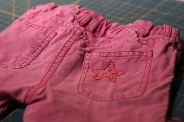 Jeans flicken Seestern