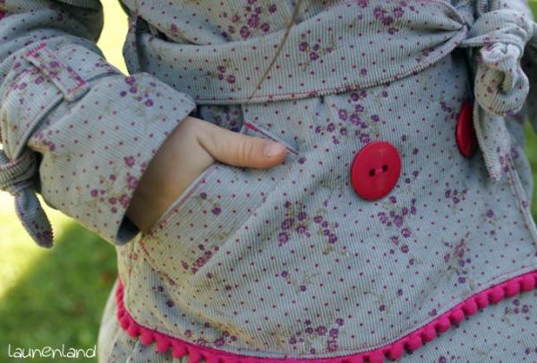 Herbstmantel Paspeltaschen
