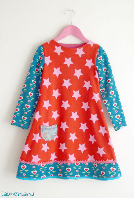 Jerseykleid Uboot-Ausschnitt Lillesol