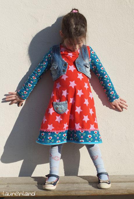 Jerseykleid Uboot-Ausschnitt Lillesol mit Weste