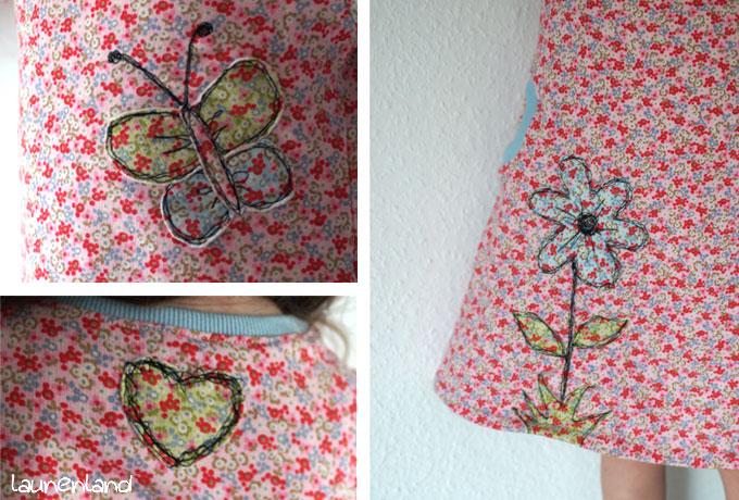 Lillesol Kleid mit amerikanischem Ausschnitt Details